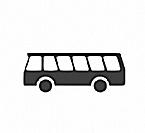 Busstation vor dem Haus
