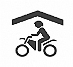 Unterstellplatz für Motorräder