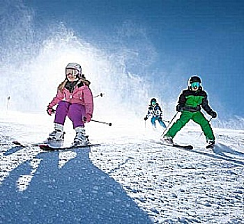 Fun on the slopes at the glacier