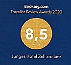 Junges Hotel Zell am See - Seespitz erneut von Booking.com ausgezeichnet